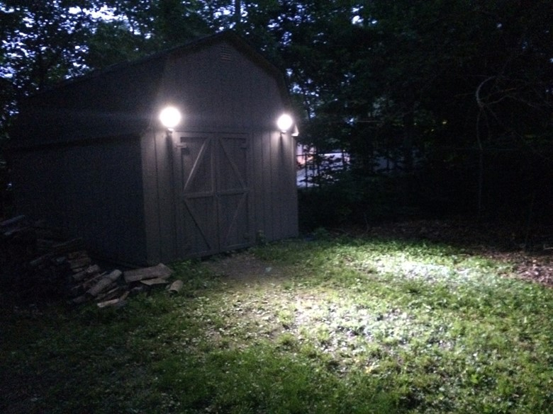 Solar Powered Motion Lights Harbor Freight. Shop Harbor Freight 24 Ft 12 Bulb Outdoor String ...